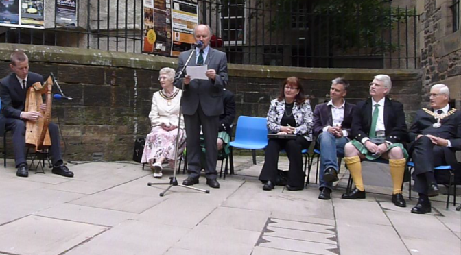 Makars Court Stone Unveiling