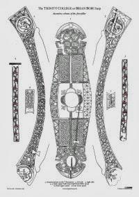 Trinity College harp decoration