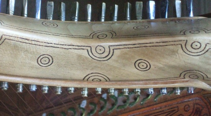 """Like medieval clockwork"" – copying the missing Queen Mary harp iron tuning pins."