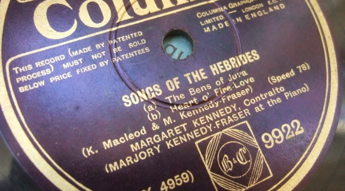 Scottish music 78s