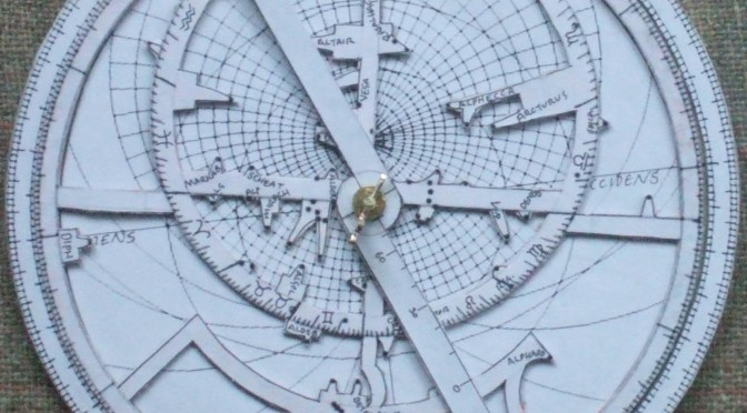 Paper astrolabe