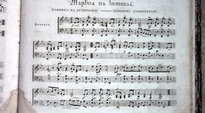 early 19th century Irish harp music
