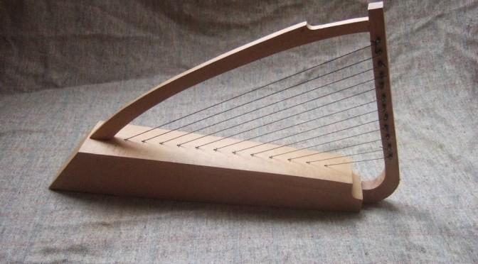 Glistening black horsehair strings