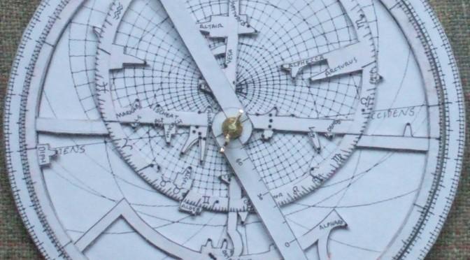 Paper astrolabe