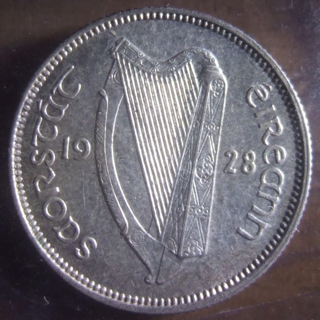 1928 silver shilling