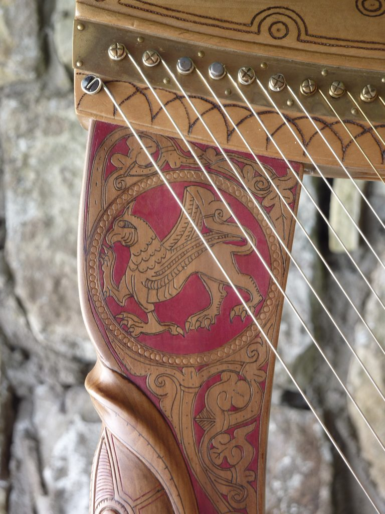 Replica of the medieval Hebridean clàrsach