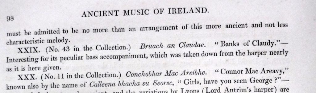 Edward Bunting, The Ancient Music of Ireland, 1840