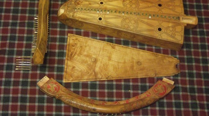 """Archæological"" copies of old Gaelic harps"