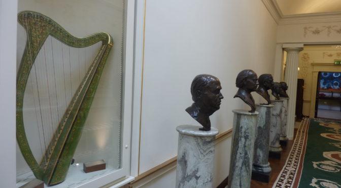 Early Irish harp at Áras an Uachtaráin